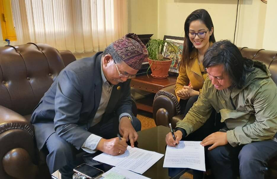The Memorandum of Agreement (MOA), signed with the Mayor of Lalitpur , with a shared objectiveof transforming 8 more public lands into green spaces in the heart of Lalitpur City.